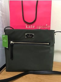 "Brand New Authentic Kate Spade Crossbody bag / Green / nylon/ 9.9""h x 11.5""w x 2.5""d Edmonton, T5E 2T3"