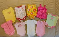 3 Month Girl Onesies - 9 Pieces