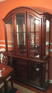brown wooden framed glass china cabinet West Orange, 07052