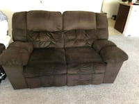 brown suede 3-seat recliner sofa Ijamsville, 21754