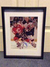 Theo Fleury Signed and framed photo  Châteauguay, J6K