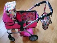 Doll stroller Pro Deluxe with swiveling wheels,  adjustable handle and Alexandria, 22310