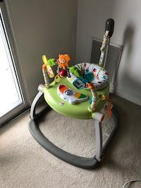 Baby's green and white fisher-price jumperoo London, N6H 0B1