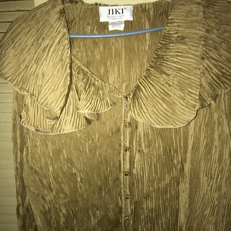 GOLD JIKI MONTE CARLO COLLECTION TOP. CLOTHING AND ACCESSORIES