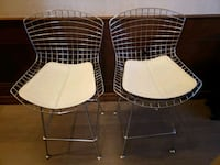 2 metal Bar Stools with leather pads, (seat height 27 inches) Toronto, M5A 2N4