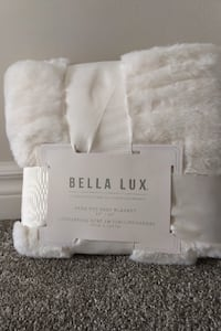 New! Gorgeous Soft Bella Lux Faux Fur Baby Blanket
