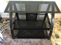 black metal framed glass top TV stand Harrisonburg, 22801