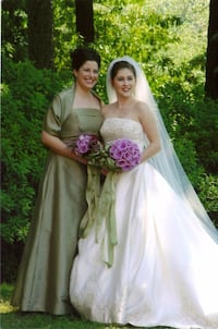 Sage Green bridesmaid dress with wrap, about size  Atlanta, 30345