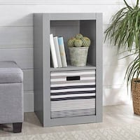 Better Homes and Gardens 2 Cube Storage Organizer, Gray Curtis Bay, 21226