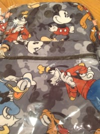 Lot of gray Mickey Mouse and Goofy print backpack