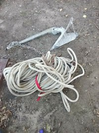 45 Lb cqr anchor with rope East Providence, 02915