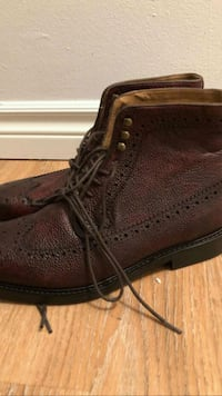 pair of brown leather work boots Gatineau, J8Y 4C6