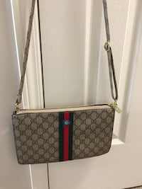 Monogrammed gray and black gucci crossbody bag lady Calgary, T3J 3Z1