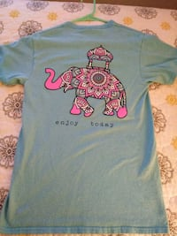 blue and pink Minnie Mouse crew-neck shirt Clemmons, 27012