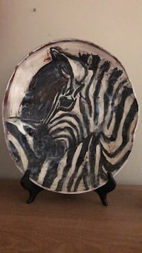 rare zebra  plate one of a  kind rEDUcED Buford, 30518