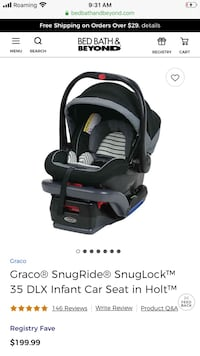 Graco infant DLX Car seats (babies not included)