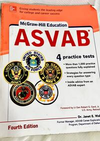 McGraw Hill ASVAB 4th Edition W/practice Tests Scottsdale, 85250