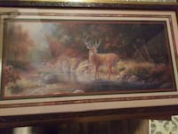 brown deer standing on body of water painting with Sharpsburg, 21782