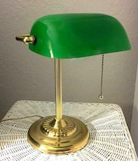 Brass and green desk lamp Fort Worth, 76112