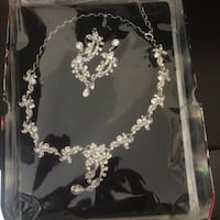 New necklace and earrings set  Calgary, T3J 2W7