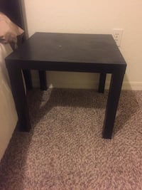 square black wooden side table Orlando, 32816