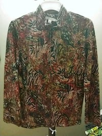 brown and black floral long-sleeved shirt Whittier, 90604