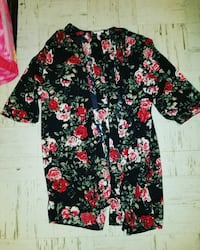 black, red, and white floral blouse Winnipeg, R2W 5H3