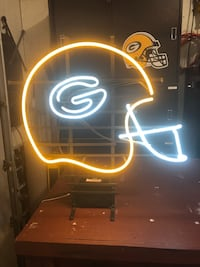 Awesome packer neon sign.   Little Chute