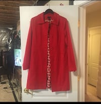 Women's red fashion coat Bristow, 20136