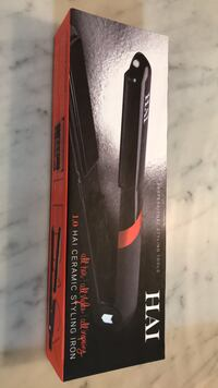 Black and red hair straightener