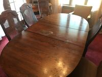 Old Dinning Room Table and Cane Backed Chair