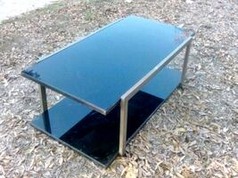 Double tinted tempered glass coffee table