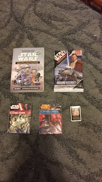 Star Wars Bundle : playing cards, phrase book, trading cards, BB-8 pin