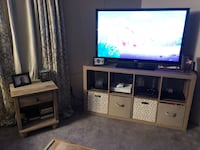 Flat screen television and brown wooden tv stand Rock Hill, 29730