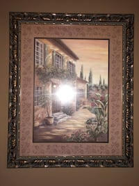 brown wooden framed painting of house Colfax, 27235