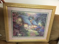 Large country cottage print