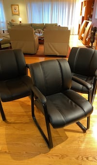Leather chairs x3