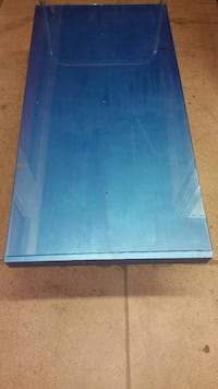 Metallic blue table top
