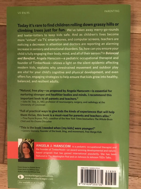 Balanced and Barefoot by Angela Hanscom - parenting book - brand new