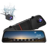 Brand new in box Mirror Dash Cam Front and Rear, 10 Inch Touch Screen Front 1080P Rear View 1080P Dual Lens 170°Wide Angle 马卡姆, L6E 2C4