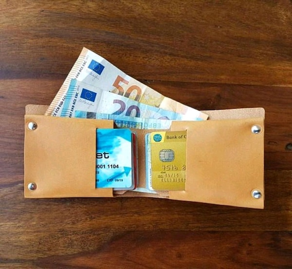 Handcrafted Leather Wallet And Or Diy Kit
