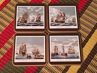 Four new Pimpernel Sailing Ship coasters  Toronto, M2M 2A2