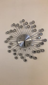 white and black floral analog wall clock West Valley City, 84119