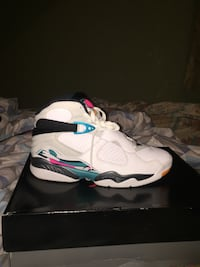 white-and-blue Air Jordan 7 shoes 441 mi