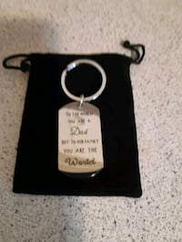 Dad keychain stainless steel Ajax, L1S 4E5