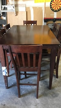 Hardwood   Table with 6 chairs Bar   height! Centennial, 80122