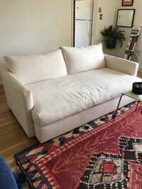 White down filled sofa. 6 months old 46x76