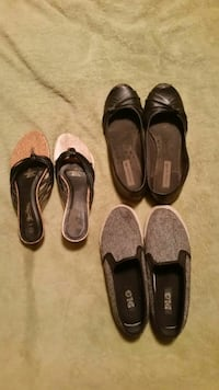 Flats, shoes and sandals size 7-7.5