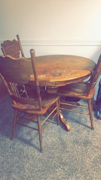 Antique old wooden table set
