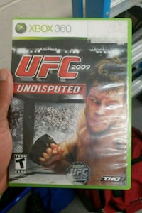 UFC Undisputed Xbox 360 game case